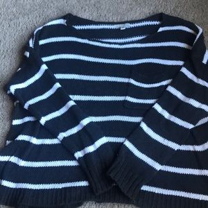 AEO stripped cable knit sweater